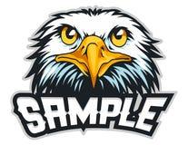 mascotte del fumetto della testa dell'aquila calva può usare per il logo di sport Fotografia Stock Libera da Diritti