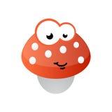 Mascotte del fungo comica Fotografia Stock