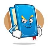 Mascotte del libro di fiducia, carattere del libro, fumetto del libro Immagini Stock