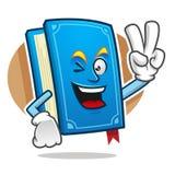Mascotte del libro di pace, carattere del libro, fumetto del libro Immagini Stock
