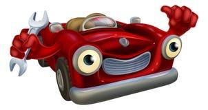 Mascotte del meccanico di automobile Immagini Stock Libere da Diritti