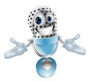 Mascotte del microfono del fumetto Fotografie Stock