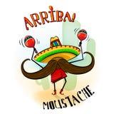 Mascotte del musicista dei baffi di Arriba Fotografia Stock Libera da Diritti