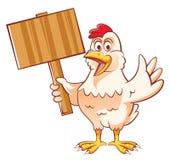 Mascotte del pollo Fotografia Stock