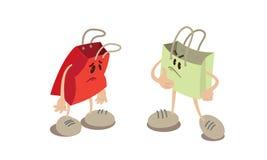 Mascotte del sacchetto della spesa Fotografia Stock