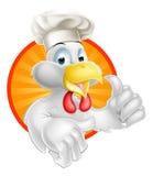 Mascotte dell'alimento del pollo del fumetto Fotografia Stock Libera da Diritti
