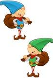 Mascotte dell'elfo - tenere un sacco Fotografia Stock