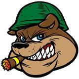 Mascotte dell'esercito del bulldog Illustrazione di Stock