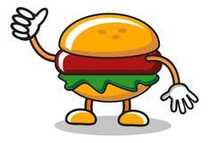 Mascotte dell'hamburger illustrazione di stock