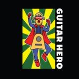 Mascotte dell'illustrazione di Guitar Hero illustrazione vettoriale