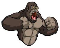 Mascotte della gorilla Immagine Stock Libera da Diritti