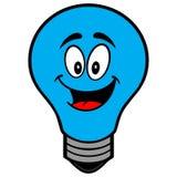 Mascotte della lampadina di autismo Fotografia Stock