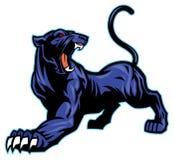 Mascotte della pantera nera Immagine Stock