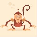Mascotte della scimmia di vettore Carattere del nuovo anno immagine stock