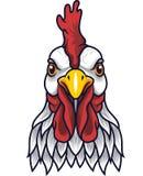 Mascotte della testa del gallo del pollo royalty illustrazione gratis