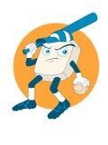 Mascotte di baseball illustrazione vettoriale