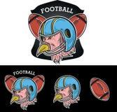 Mascotte di calcio dell'America Fotografia Stock Libera da Diritti
