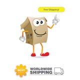 Mascotte di consegna Vettore di progettazione di massima di trasporto Immagine Stock