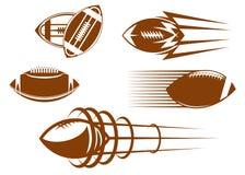 Mascotte di gioco del calcio e di rugby illustrazione vettoriale