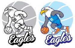 Mascotte di pallacanestro di Eagle Immagini Stock