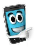 Mascotte di Smartphone Fotografia Stock