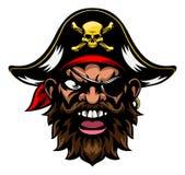 Mascotte di sport del pirata del fumetto illustrazione di stock