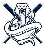 Mascotte di sport di baseball della cobra Fotografie Stock