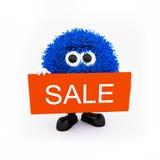 Mascotte di vendita per il negozio in linea Immagini Stock Libere da Diritti