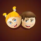 Mascotte di vettore dei ragazzi e delle ragazze Illustrazione Vettoriale