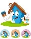 Mascotte die van het Beeldverhaal van het huis - de schildert vector illustratie