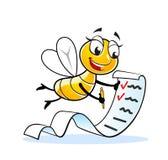 Mascotte drôle de mouche de dame Image libre de droits
