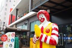 Mascotte du restaurant de McDonald Photo stock