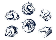 Mascotte ed emblemi del cavallo Fotografia Stock Libera da Diritti
