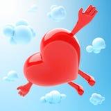 Mascotte en forme de coeur Image stock
