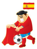 Mascotte Espagne du football Photo libre de droits