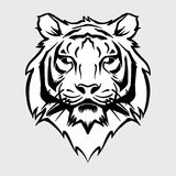 Mascotte et logo de Tiger Head BW illustration libre de droits