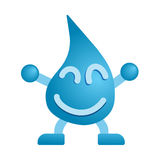 Mascotte felice dell'acqua Fotografia Stock