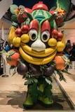Mascotte Foody van Expo 2015 bij Beetje Milaan, Italië Stock Afbeeldingen