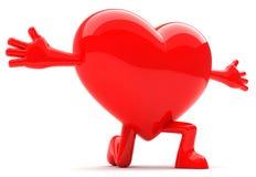Mascotte a forma di del cuore Fotografie Stock Libere da Diritti