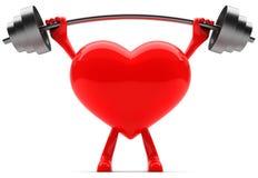 Mascotte a forma di del cuore Immagini Stock Libere da Diritti
