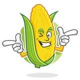 Mascotte funky del cereale, carattere del cereale, fumetto del cereale Fotografie Stock