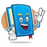 Mascotte GIUSTA del libro, carattere del libro, fumetto del libro Immagini Stock Libere da Diritti