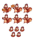 Mascotte heureuse d'écureuil de bande dessinée Photographie stock