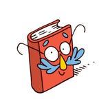 Mascotte mignonne de caractère de livre de bande dessinée Images libres de droits