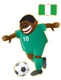 Mascotte Nigeria di gioco del calcio Immagine Stock Libera da Diritti