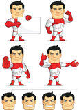 Mascotte personalizzabile 5 del supereroe Fotografia Stock