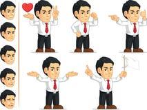 Mascotte personalizzabile 9 dell'impiegato di concetto Immagini Stock Libere da Diritti
