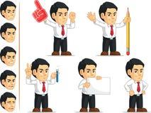 Mascotte personalizzabile 6 dell'impiegato di concetto Immagini Stock