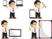 Mascotte personnalisable 14 d'employé de bureau Images stock