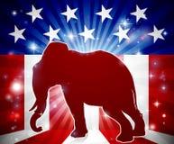 Mascotte politique républicaine d'éléphant Photo libre de droits